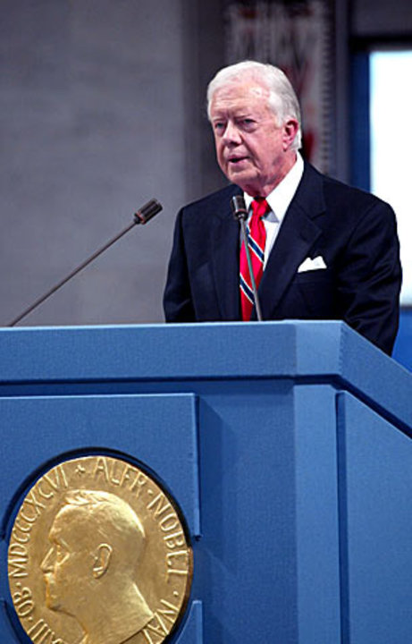 Jimmy Carter delivers his Nobel Lecture
