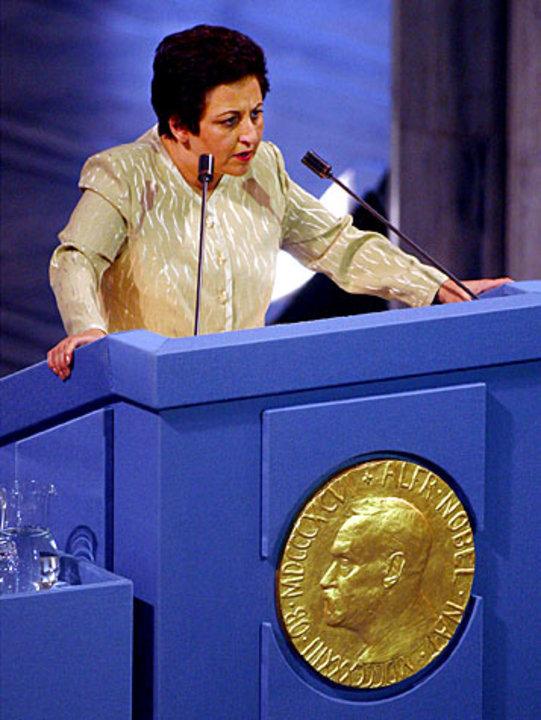 Shirin Ebadi presenting her Nobel Lecture