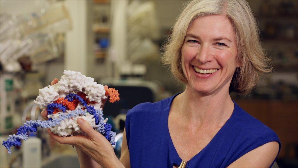 Jennifer Posing with CRISPR HQ