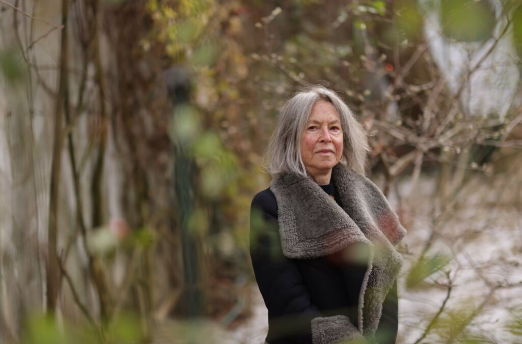 Literature laureate Louise Glück outside her home