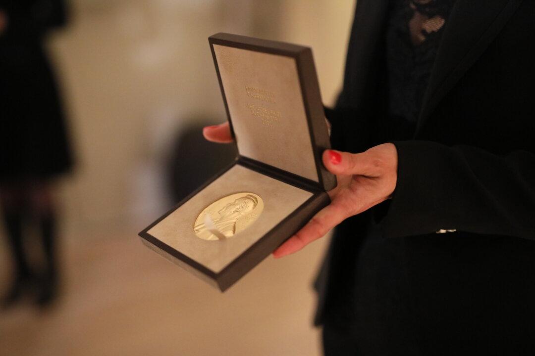 Emmanuelle Charpentier's Nobel Prize medal