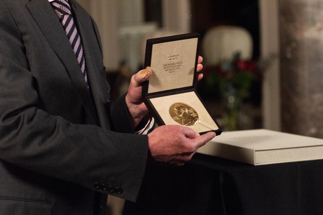 Charles M. Rice's Nobel Prize medal.