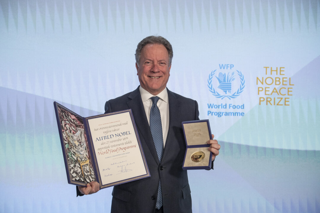 Nobel Peace Prize awarded to World Food Programme, Mr. David Beasley, Executive Director of WFP