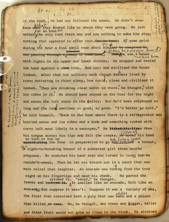Toni Morrison Corrected proofs recovered from Fire