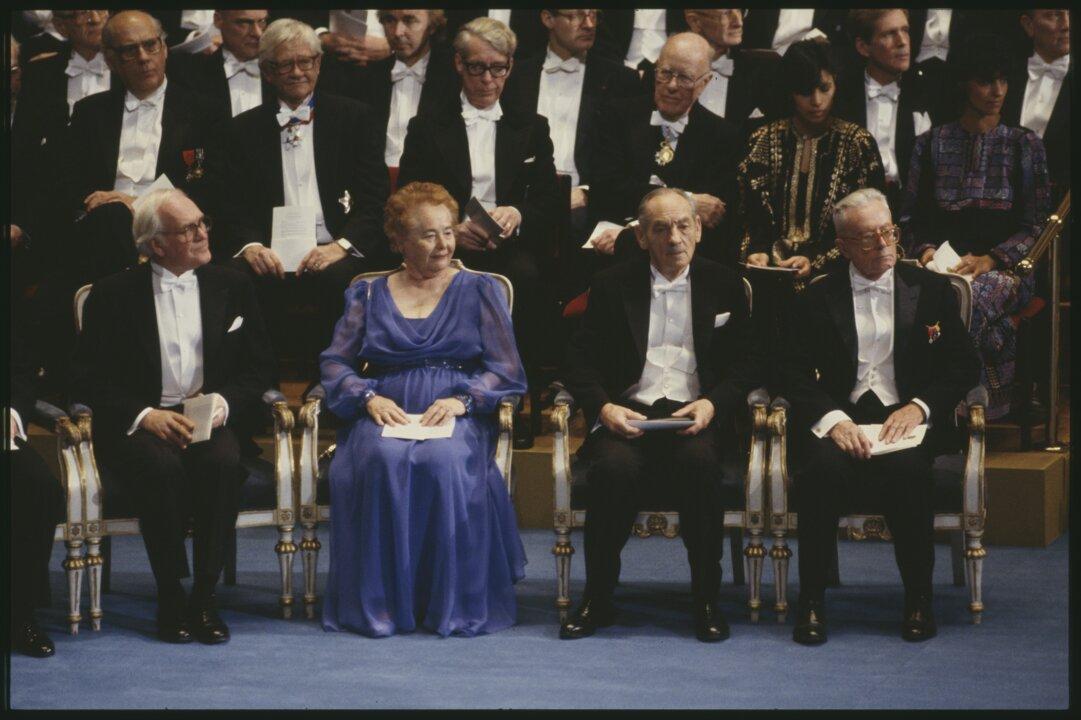 Nobel Prize award ceremony 1988
