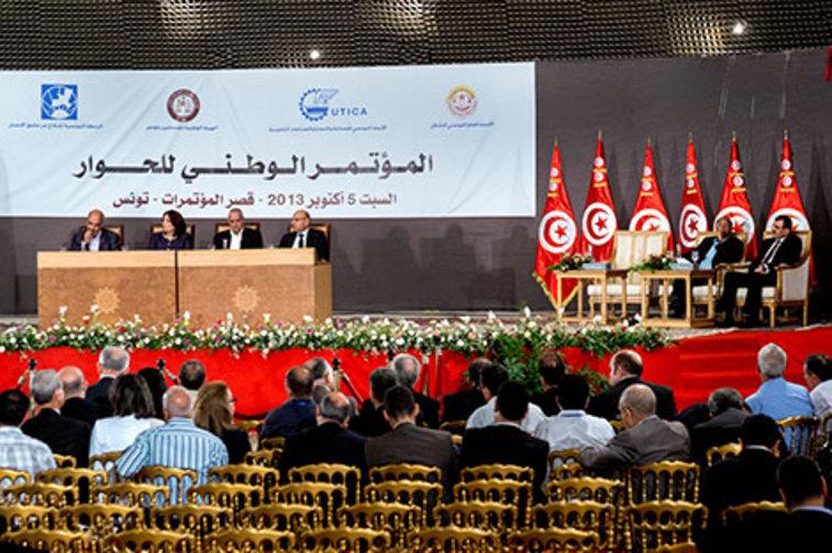 Representatives of Tunisia's National Dialogue Quartet.