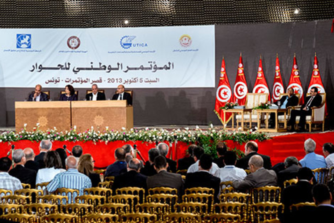 Representatives of Tunisia's National Dialogue Quartet.