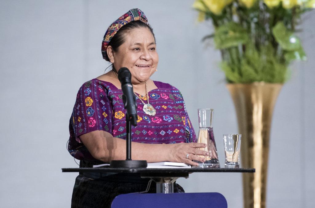 Rigoberta Menchú Tum at oslo PF 2