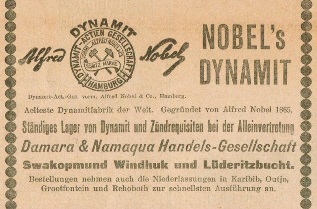 Nobels Dynamite 10 Nov 1906