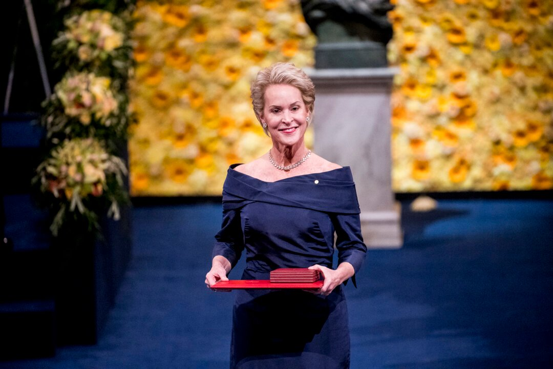 Frances H Arnold at award ceremony