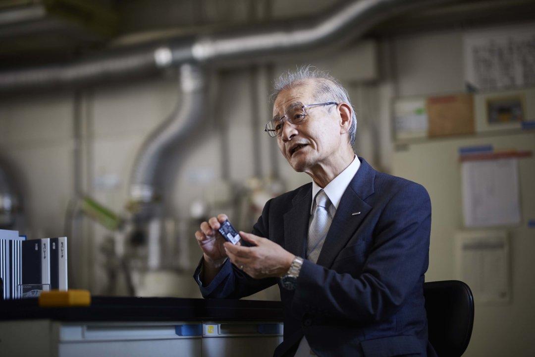 Akira Yoshino at Kawasaki laboratory in Japan.