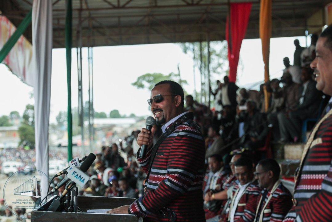 Abiy Ahmed Ali in Ethiopia.