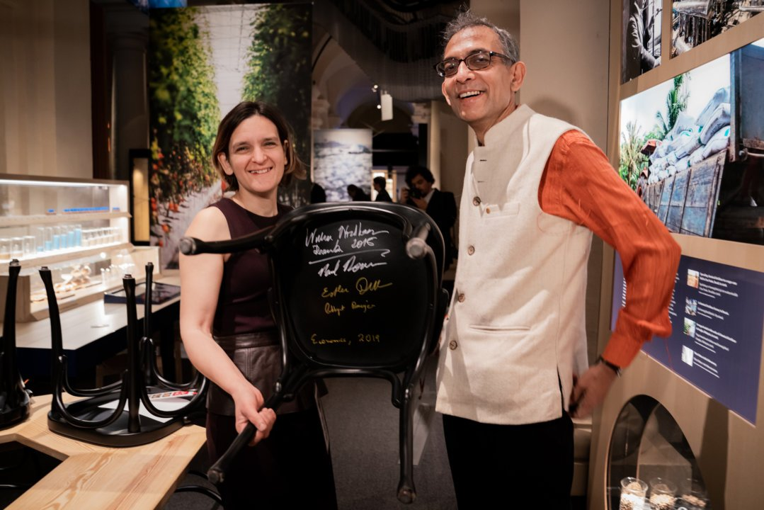 Esther Duflo and Abhijit Banerjee at Nobel Prize Museum