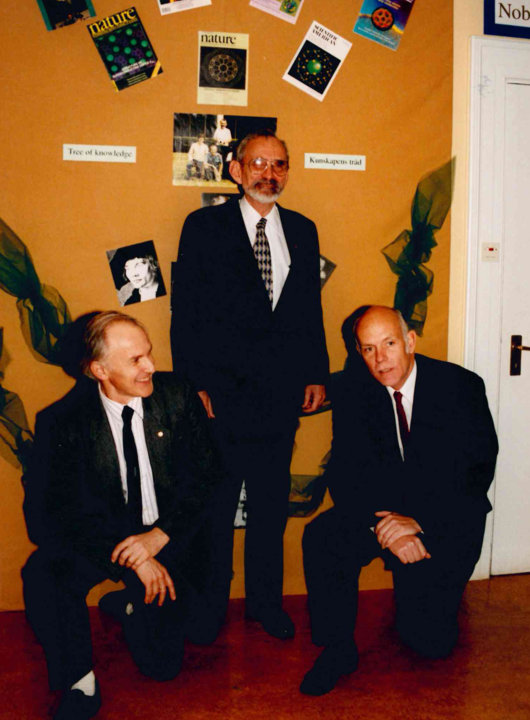 Harry Kroto, Robert Curl and Richard Smalley 1996