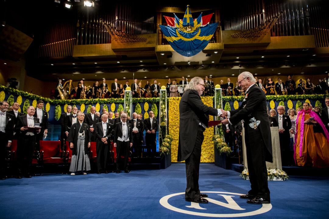 James P. Allison receiving his Nobel Prize