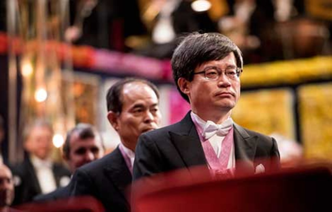 Hiroshi Amano at the Nobel Prize Award Ceremony.