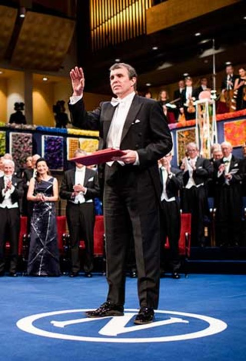 Eric Betzig after receiving his Nobel Prize at the Stockholm Concert Hall