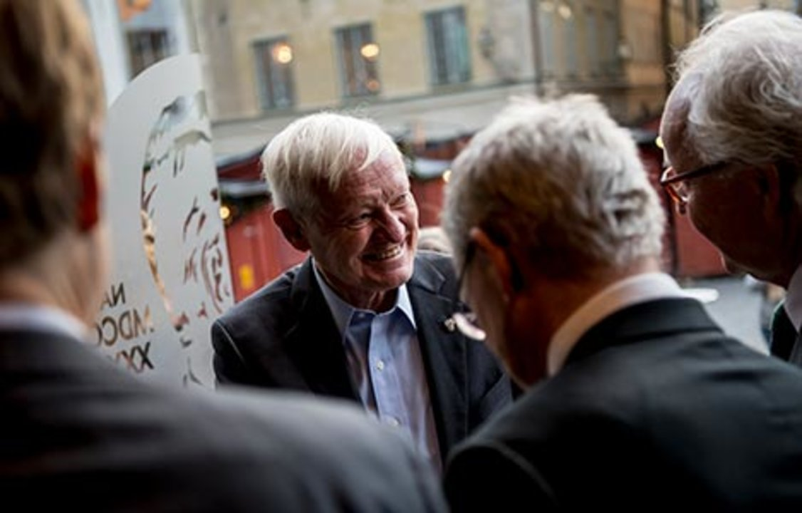 Joachim Frank arrives at the Nobel Museum