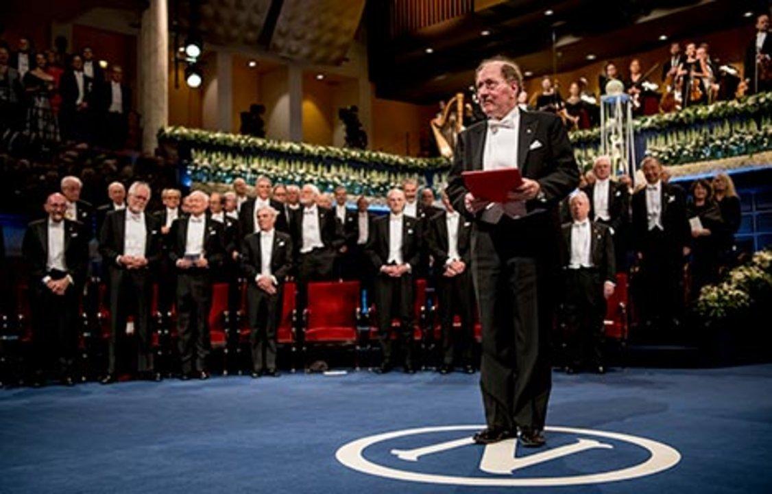 Jeffrey C. Hall after receiving his Nobel Prize at the Stockholm Concert Hall