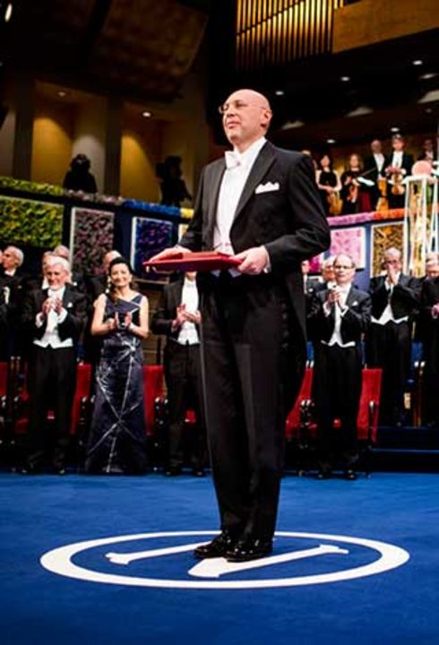 Stefan W. Hell after receiving his Nobel Prize at the Stockholm Concert Hall