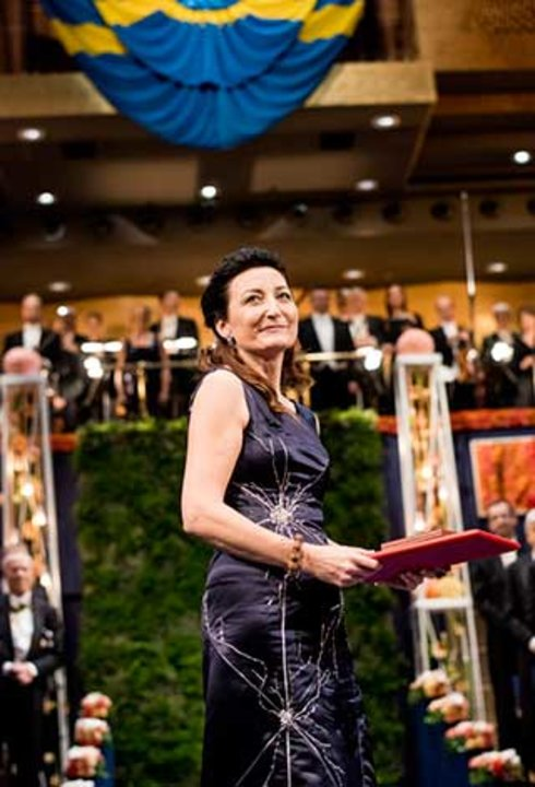 May-Britt Moser at the Nobel Prize Award Ceremony at the Stockholm Concert Hall
