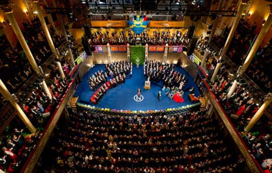 William E. Moerner receiving his Nobel Prize. Overview from Nobel Prize Award Ceremony at the Stockholm Concert Hall