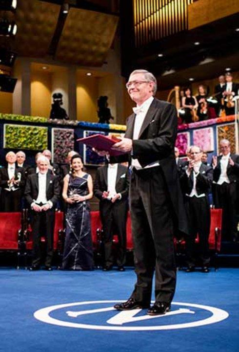 William E. Moerner after receiving his Nobel Prize at the Stockholm Concert Hall