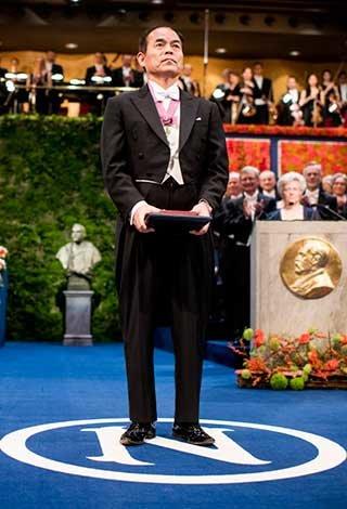 Shuji Nakamura after receiving his Nobel Prize at the Stockholm Concert Hall