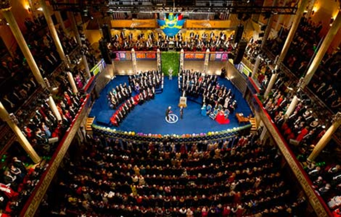 John O'Keefe receiving his Nobel Prize. Overview from Nobel Prize Award Ceremony at the Stockholm Concert Hall