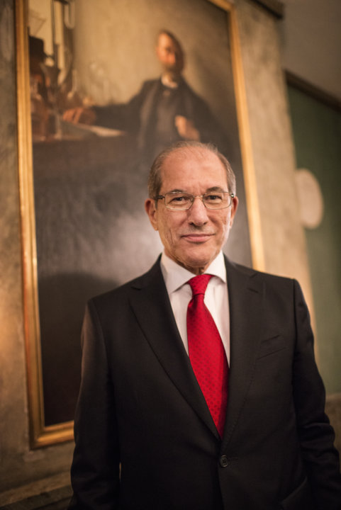 Ahmet Üzümcü, Director-General of Organisation for the Prohibition of Chemical Weapons (OPCW), during his visit to the Nobel Foundation