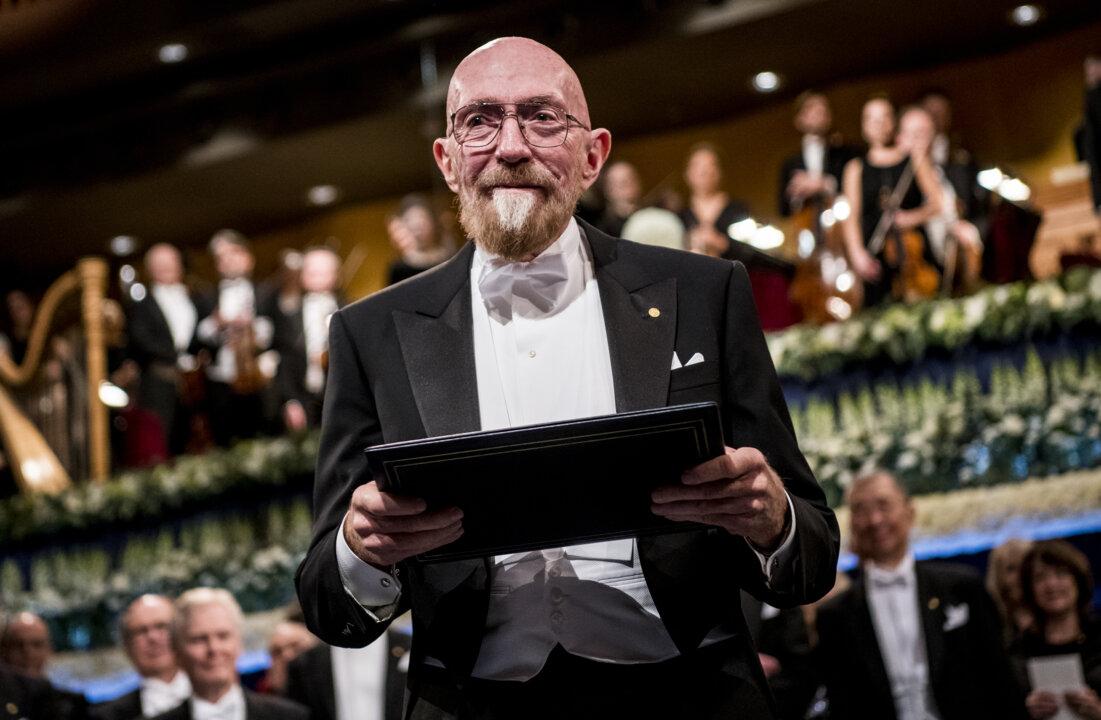 Kip S. Thorne after receiving his Nobel Prize at the Stockholm Concert Hall