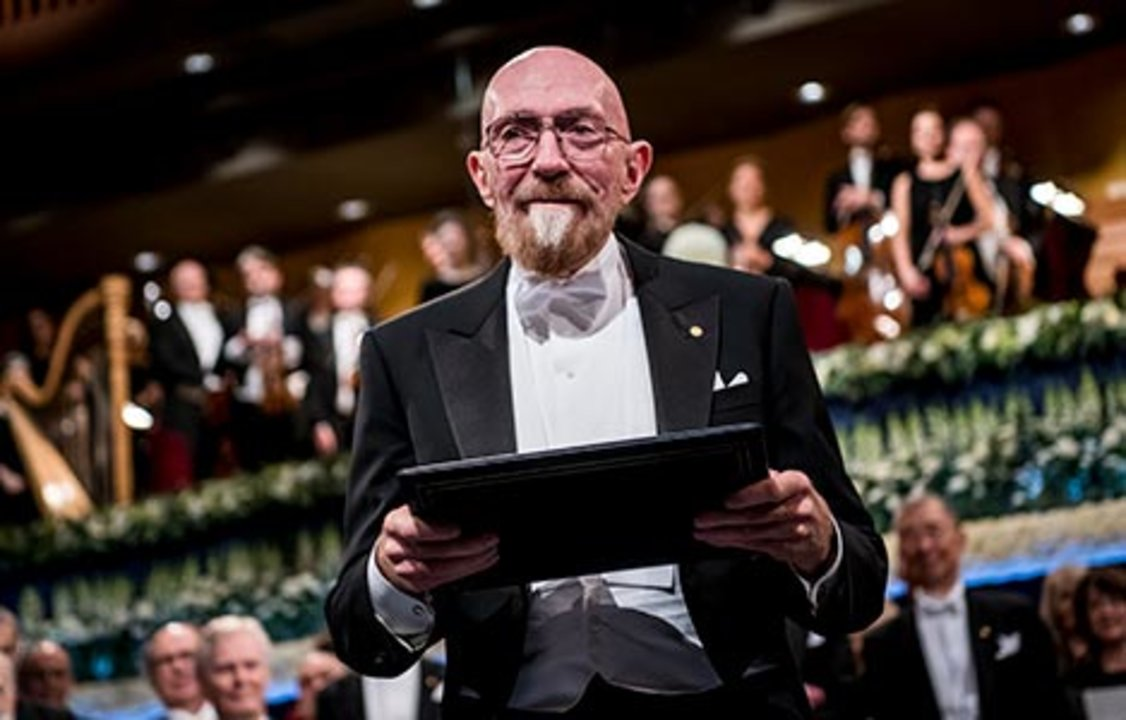 Kip S. Thorne after receiving his Nobel Prize at the Stockholm Concert Hall