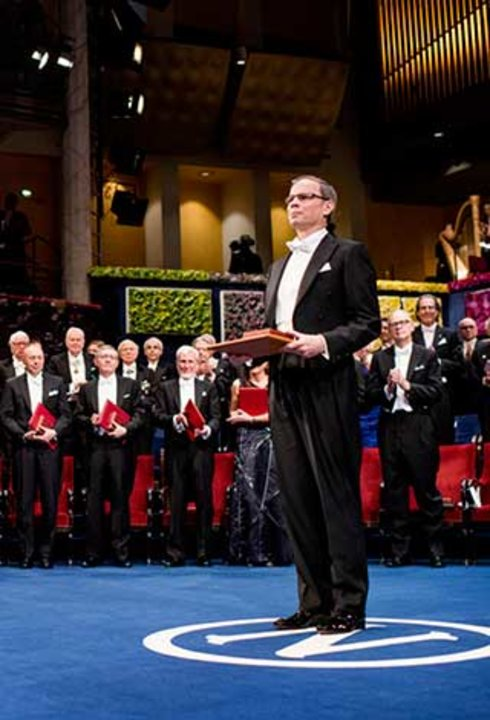 Jean Tirole after receiving his Prize at the Stockholm Concert Hall