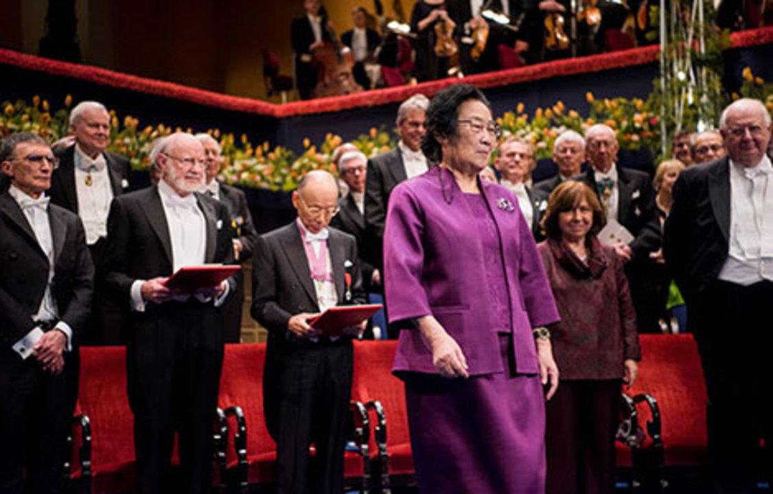Youyou Tu at the Nobel Prize Award Ceremony.