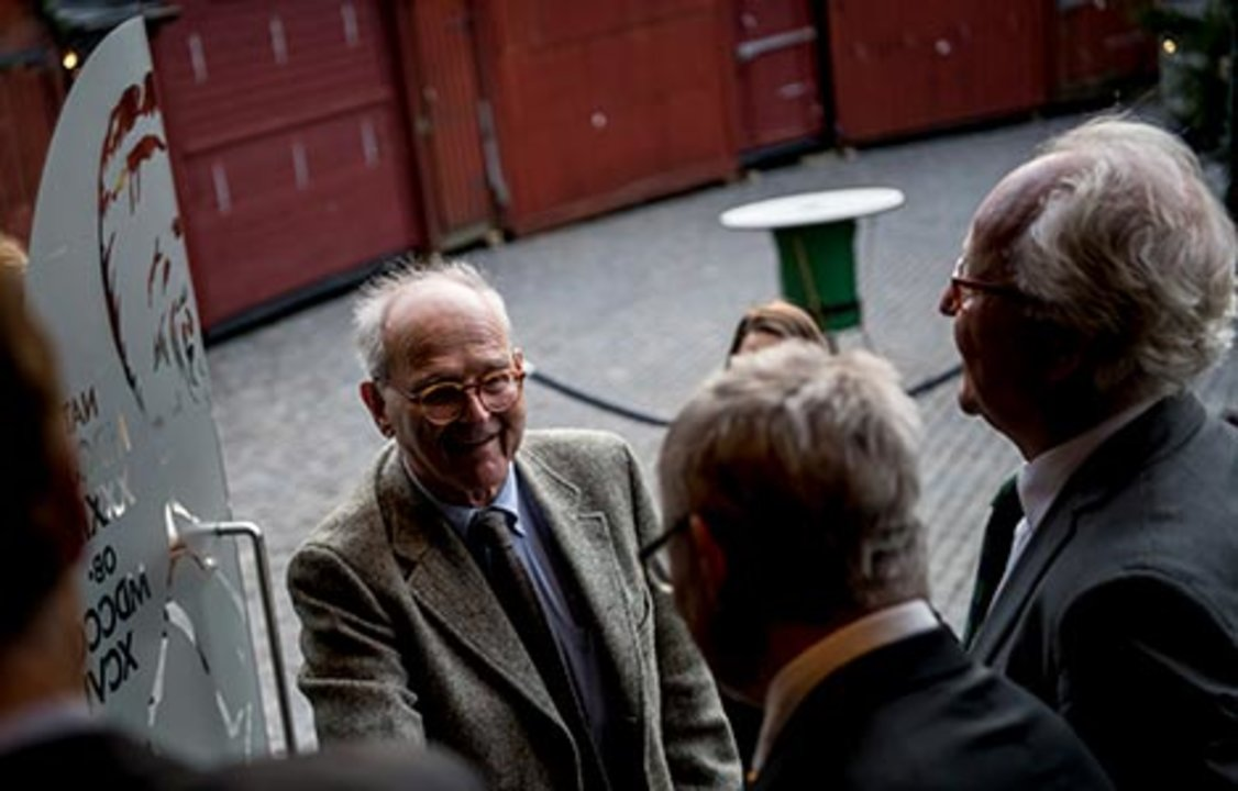 Rainer Weiss arrives at the Nobel Museum