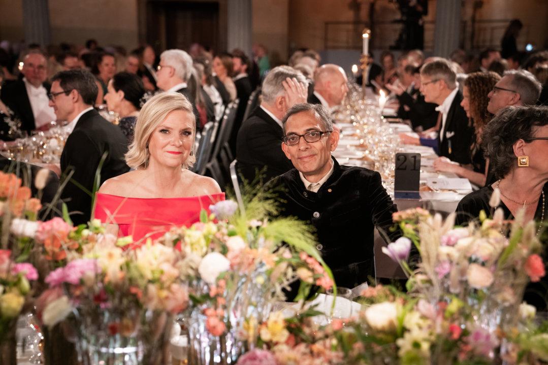 Abhijit Banerjee at the Nobel Banquet
