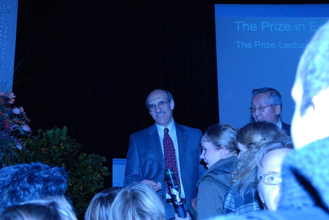 Martin Chalfie after delivering his Nobel Lecture