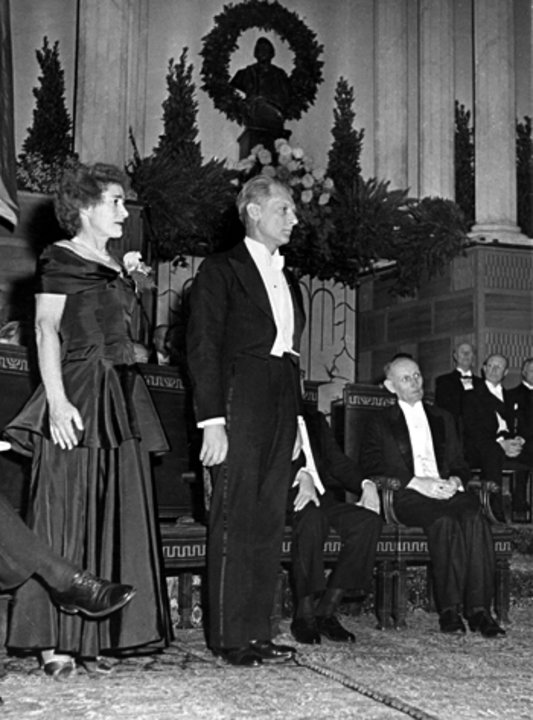 Gerty and Carl Cori at the Nobel Prize Award Ceremony