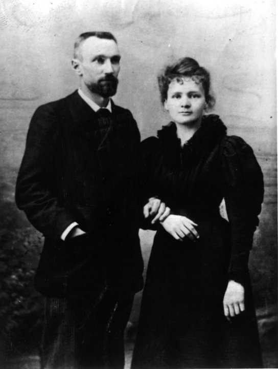 Wedding photo of Pierre and Marie Curie