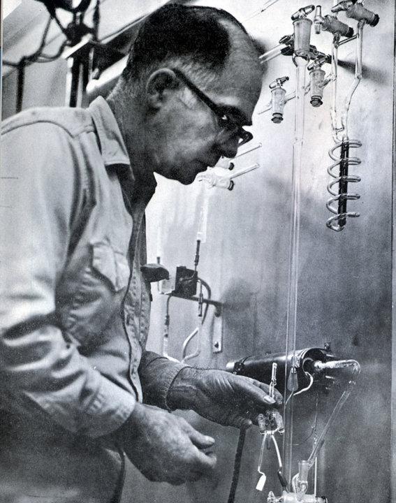 Raymond Davis Jr. at Homestake Mine