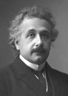 Einstein as a young man.