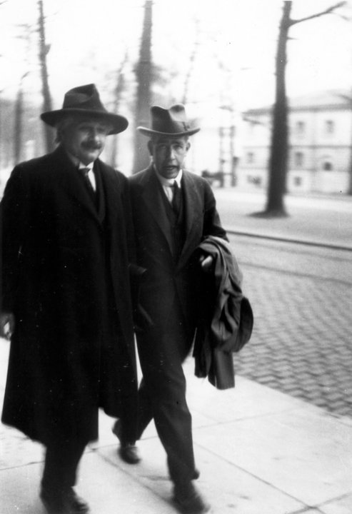 Nobel Laureates in Physics Albert Einstein and Niels Bohr