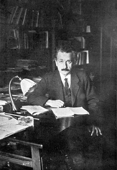 Albert Einstein in his office