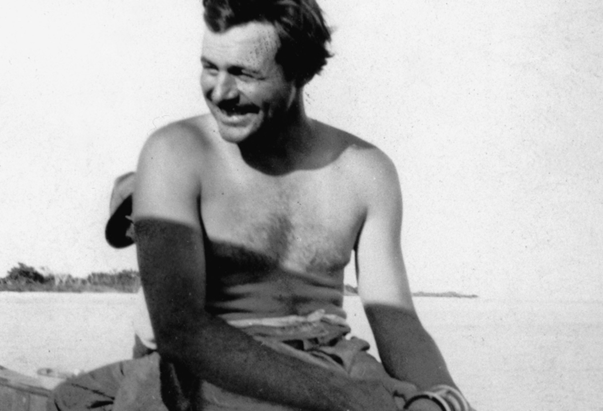 Ernest Hemingway Fishing, Key West, 1928 Wikimedia commons