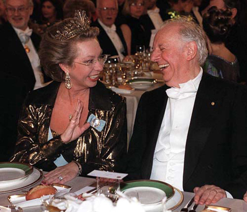 Dario Fo and Princess Christina