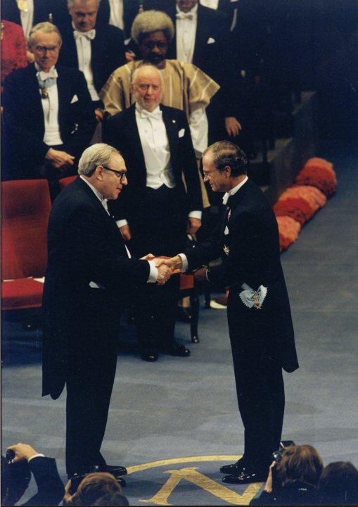 Robert W. Fogel receiving his Nobel Prize
