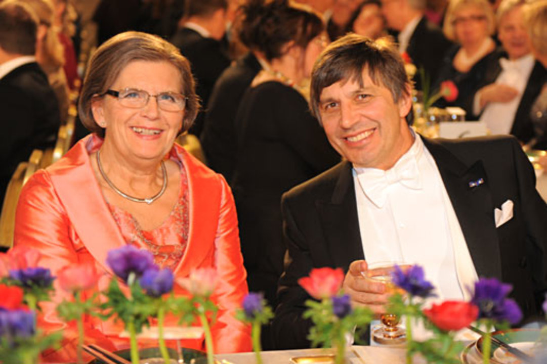 Andre Geim and Mrs Gunilla Storch at the Nobel Banquet