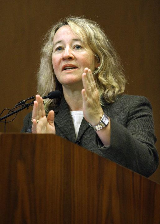 Carol W. Greider at the Johns Hopkins University press conference