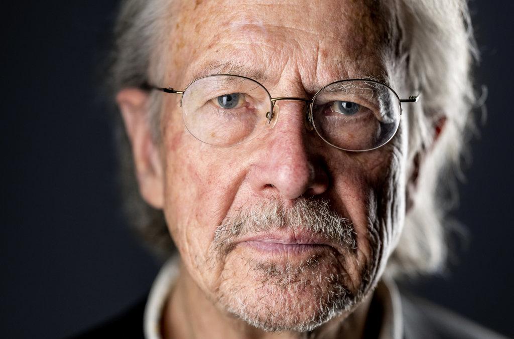 Peter Handke official Nobel portrait