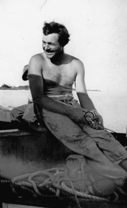 Ernest Hemingway fishing, 1928